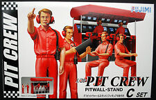 Pit Crew Set C Pitwall Stand Ingenieure, Conputer, 1:20, Fujimi 13326