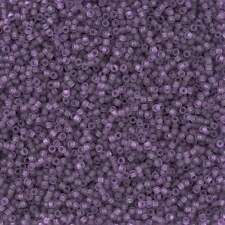 Toho Round Seed Beads Size 15/0 Transparent Frosted Sugar Plum 8.2g Tube (L17/4)