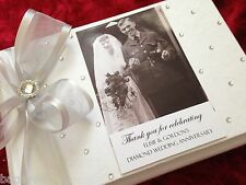Personalised Diamond 60th Wedding Anniversary Guest Memory Photo Book Gift Boxed