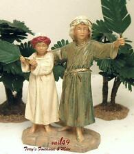 "FONTANINI DEPOSE ITALY 5"" IRA & ASHER w/PALMS NATIVITY VILLAGE FIGURES 53510 NEW"