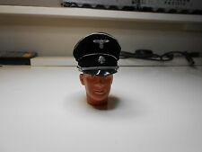 1/6 German ITPT SS Officer's Cap/Hat Black, Leather and fabric, with Dragon Head