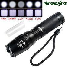 4000 Lumen Tactical Flashlight T6 Cree Led XML Military Torch Zoomable X800 G700