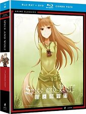Spice And Wolf . The Complete Series . Season 1 + 2 .  Anime . 4 Blu-ray + 4 DVD