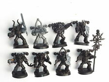 CHAOS SPACE MARINE SQUAD A. ASSEMBLED & UNDERCOATED