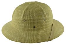 MM Summer 100% Straw Pith Helmet Postman Hat Natural White