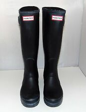 HUNTER Original Tall  Rainboots Black Matte, sz 38, 7 - 8