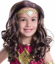 Wonder Woman Costume Wig Girls Kids Child Wonderwoman Batman v Superman Dawn