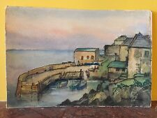Quality++ Watercolour Painting - Coverack Village Cornwall signed Mary Williams