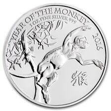 GRANDE BRETAGNE 2 Livres Argent 1 Once Année Singe 2016 - 1 Oz silver coin