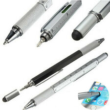 Silver Touch Screen Stylus Pen With Spirit Level Multitool Ruler Screwdriver