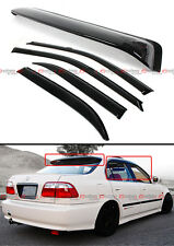 92-95 HONDA CIVIC 4DR SEDAN EG EH JDM SMOKE REAR ROOF WINDOW + DOOR VISOR COMBO