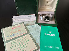 RARE ROLEX VINTAGE SUBMARINER REF 5513 ORIGINAL BOX & PAPERS, METERS FIRST