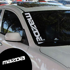 Reflective Silver White Front Windshield Side Decal Vinyl Car Stickers For Mazda