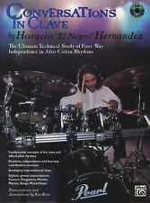 Conversations In Clave Drum Set Sheet Music Book/CD Horacio Hernandez