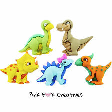 DINO-Acaro dress It Up Novità Craft pulsanti Baby Dinosauri HOBBY Retrò embelish