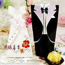 1x pairs Black,White,Red Bride And Groom Wedding Favours Boxes Candy
