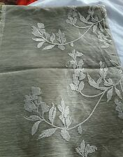 Festivedeal(2mtr)greenish white threadwork tussar net fabric for all purposes.