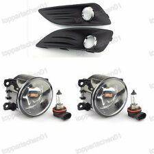 Clear Front Bumper Fog Lights Lamps+Covers Kits for Ford Fiesta 2013-2014
