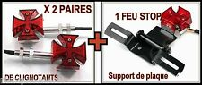 tail light + 2 pairs turn signal Maltese Cross NEW ( motorcycle custom harley )