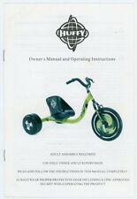 Huffy Big Wheel Owner's Manual & Operating Instructions