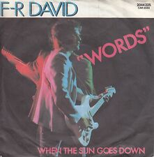 "F-R David - Words / When the sun goes down *7"" Single* ( Carrere / 2044 225 )"