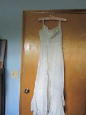 Gorgeous Victorian-Edwardian White Cotton Full Slip w/ Lace