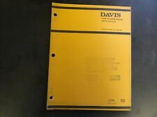 Davis Case 188 Diesel Engine Parts Catalog  H007369