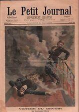 Incendie Pompiers Fire department Brigade Lt Kock Paris France 1899 ILLUSTRATION