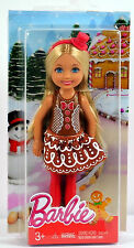 NEW Barbie 2016 Christmas Kelly Doll Chelsea Gingerbread Clothes Shoes VHTF