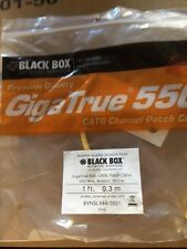 Black Box 1ft. 0.3m EVNSL644-0001 CAT6 Patch Cable Gigatrue 550 550 MHz, Booted