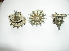 Ceramic Rotary Switch 2 pole 5 positions (Break-Before-Make). NOS. Lot of 3