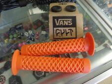 CULT BIKES VANS ORANGE FLANGED BMX BICYCLE SCOOTER FIXED GRIPS