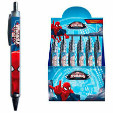 MARVEL ULTIMATE SPIDERMAN fan penna a sfera con miniera BLU SCUOLA PENNA BIRO