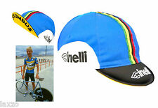 Cinelli Italian Made Bassano 85 Blue Cotton Bicycle Cycling Cap Retro fixie