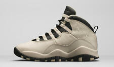 2016 Nike Air Jordan X 10 Retro Prem GG SZ 9.5Y Pearl White Black GS 832645-207