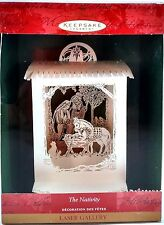 "LASER Paper Cut HALLMARK ORNAMENT ""THE NATIVITY"" Can Add Light to Enhance - MIB"