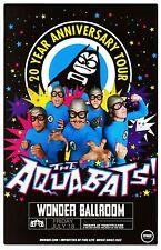 AQUABATS 2014 Gig POSTER Portland Oregon Concert 20th Anniversary Tour