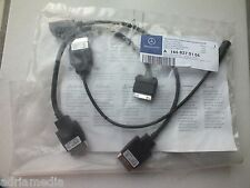 Mercedes Media Interface MP3 USB iPod Comand W221 W212 3 Kabel Audio AUX Code518