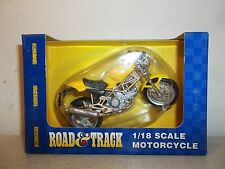 2001 MAISTO ROAD & TRACK 1/18 SCALE 1996 DUCATI MONSTER 900 YELLOW