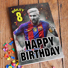 LIONEL MESSI FC Barcelona - Personalised Birthday Card! FREE 1st Class Shipping!