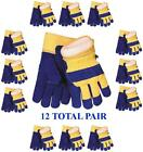 Waterproof Insulated Cowhide Winter Work Glove-12pair - Size Large