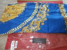 VERSACE WOMANS SCARF NEW # IF014R1 it01714 BLUE MULTI COLOR  NEW STORE SAMPLE