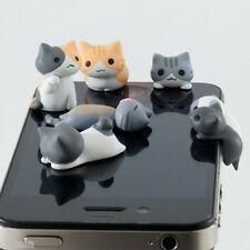 Unique Cheese Cat 3.5mm Gadget Anti Dust Earphone Jack Plug Stopper For iphone