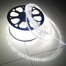 110V-130V SMD 3528 Flexible Flat LED Strip Rope Light Warm White Blue Red Green