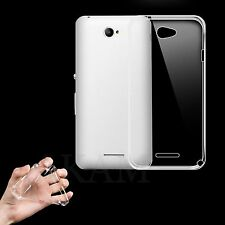 Ultra Slim Soft TPU Silicon Crystal Clear Gel Back Case Cover For Sony Xperia E4