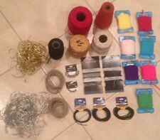 Lot Of Jewelry Making Beading Craft Supples Cord String Yarn Beading Cord