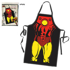 Iron Man Licensed Superhero Apron Kitchen Cooking Chef BBQ Grilling Marvel Comic