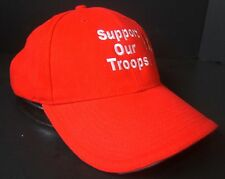 Support Our Troops Canada Canadian Military Army Red Strapback Cap Baseball Hat