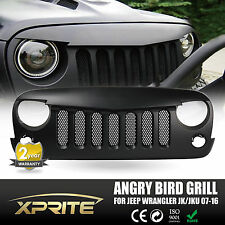 Front Angry Birds Eye Black Grill with Built-In Mesh 2007-2016 Jeep JK Wrangler