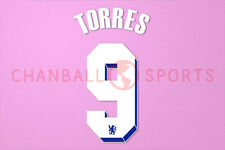 Torres #9 2011-2012 Chelsea UEFA Chaimpons League Homekit Nameset Printing